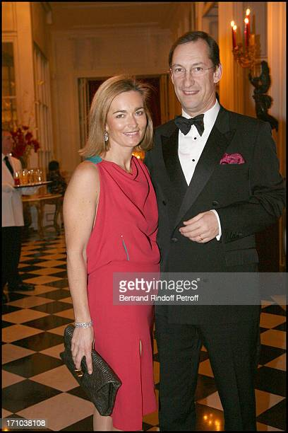 Nicolas Bazire and wife Fabienne at The Traditional Christmas Dinner At The British Embassy In Paris