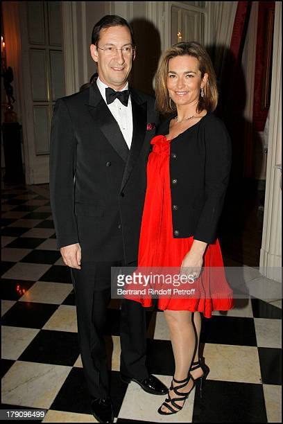 Nicolas Bazire and wife Fabienne at The Traditional Christmas Dinner Held At The British Embassy In Paris