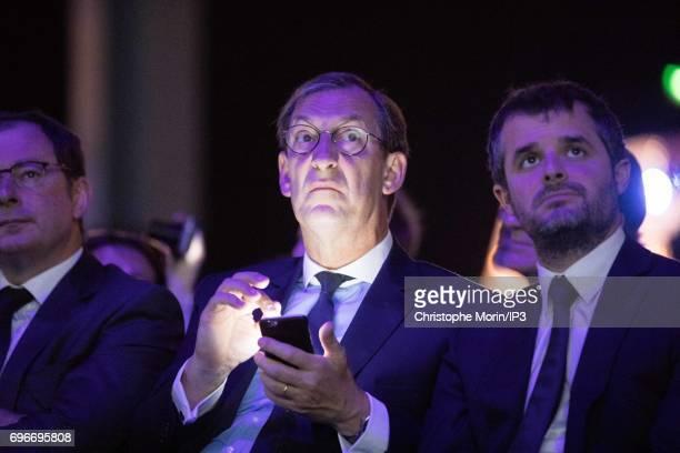 Nicolas Bazire attends a conference during Viva Technology at Parc des Expositions Porte de Versailles on June 16 2017 in Paris France Viva...