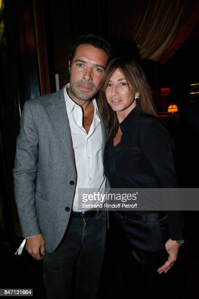 Nicolas Bedos and Albane Cleret attend the Reopening of the Hotel Barriere Le Fouquet's Paris decorated by Jacques Garcia at Hotel Barriere Le...