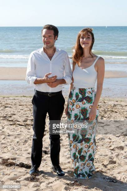 Nicolas Bedos and Doria Tillier attend 'Monsieur et Madame Adelman' photocall during 4th day of 31st Cabourg Film Festival on June 17 2017 in Cabourg...