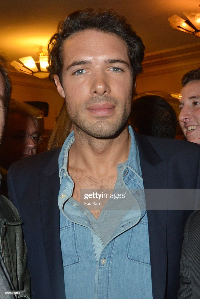 Nicolas Bedos attends the 'Prix De Flore 2012' - Literary Award Ceremony Party at the Cafe de Flore on November 8, 2012 in Paris, France.
