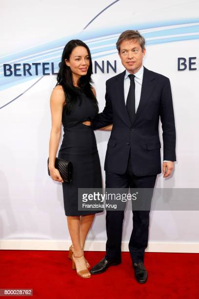 Nicolas Berggruen and Yoselyn Bencosme attend the 'Bertelsmann Summer Party' at Bertelsmann Repraesentanz on June 22 2017 in Berlin Germany