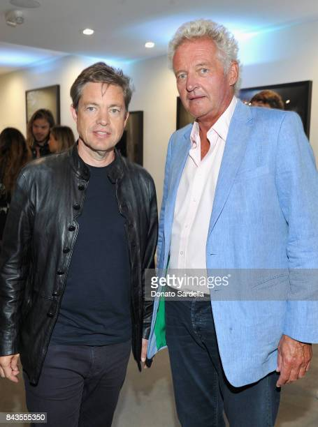 Nicolas Berggruen Leopold von Bismarck and celebrity floral and fragrance designer Eric Buterbaugh attend the private opening of Sascha von Bismarck...