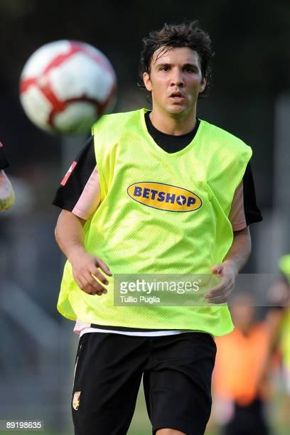 Nicolas Bertolo of Palermo in action during a training session at Sportarena on July 22 2009 in Bad Kleinkirchheim near Radenthein Austria
