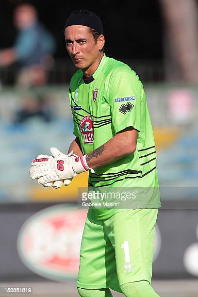Nicolas Bremec of US Grosseto in action during the Serie B match between US Grosseto FC and US Sassuolo at Stadio Olimpico on October 6 2012 in...