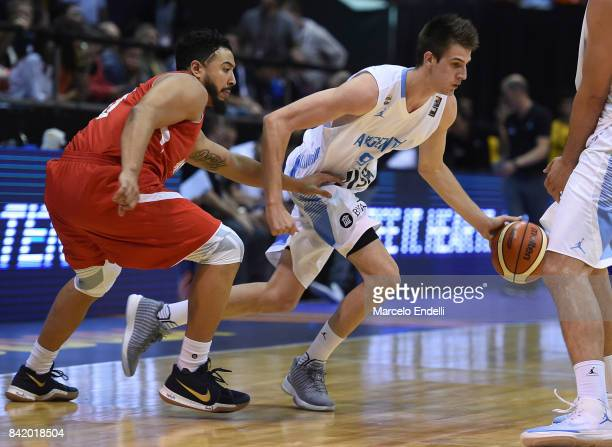 Nicolas Brussino of Argentina in action during a semi final match between Argentina and Mexico as part of FIBA AmeriCup 2017 at Orfeo Superdomo...
