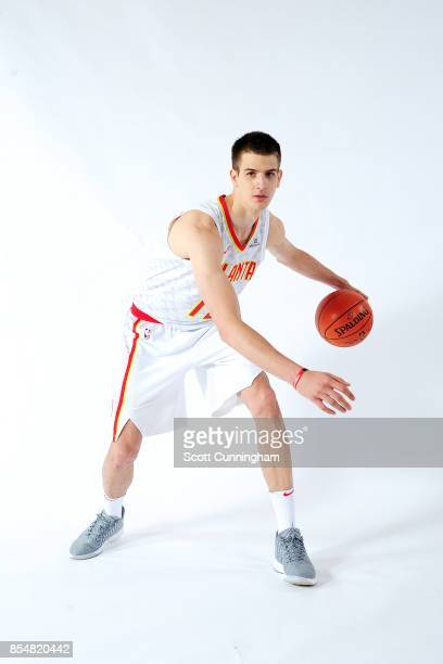Nicolas Brussino of the Atlanta Hawks poses for a portrait during the 201718 NBA Media Day on September 25 2017 at Philips Arena in Atlanta Georgia...