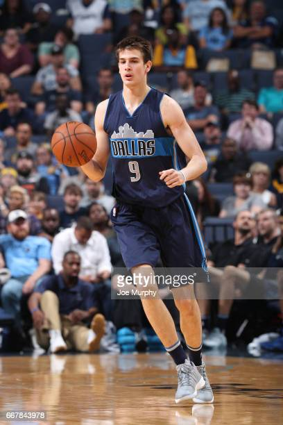 Nicolas Brussino of the Dallas Mavericks dribbles the ball against the Memphis Grizzlies on April 12 2017 at FedEx Forum in Memphis Tennessee NOTE TO...