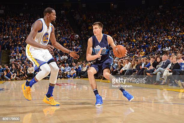 Nicolas Brussino of the Dallas Mavericks handles the ball during the game against the Golden State Warriors on November 9 2016 at ORACLE Arena in...