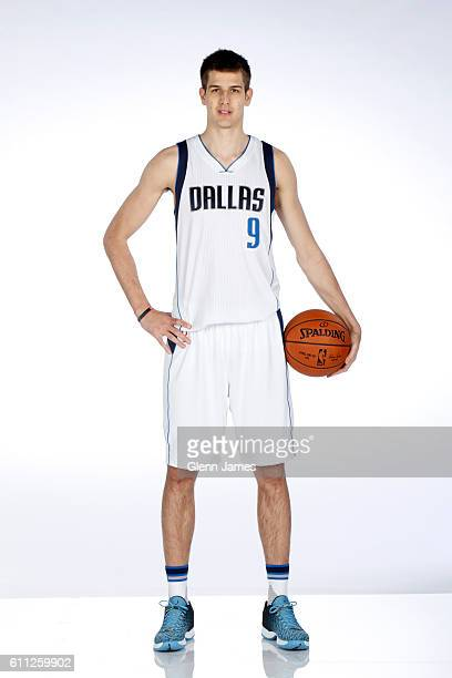 Nicolas Brussino of the Dallas Mavericks poses for a photo during the 20162019 Dallas Mavericks Media Day on September 26 2016 at the American...