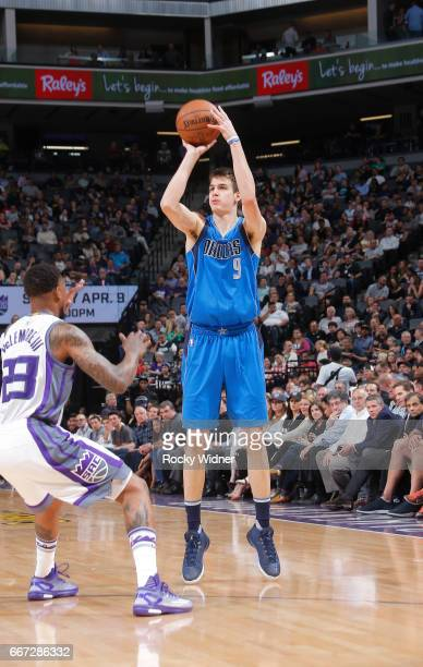 Nicolas Brussino of the Dallas Mavericks shoots against the Sacramento Kings on April 4 2017 at Golden 1 Center in Sacramento California NOTE TO USER...
