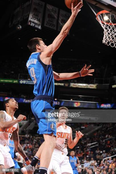 Nicolas Brussino of the Dallas Mavericks shoots the ball against the Phoenix Suns on April 9 2017 at Talking Stick Resort Arena in Phoenix Arizona...