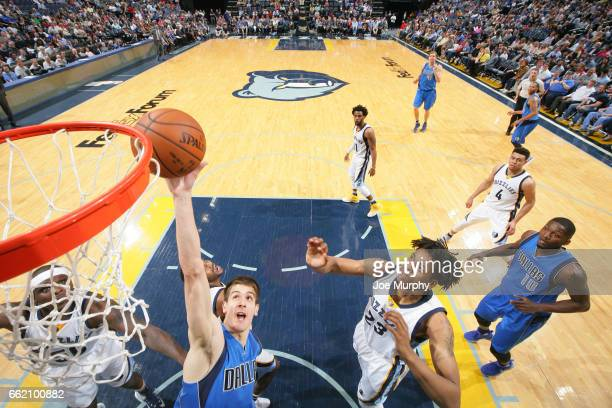 Nicolas Brussino of the Dallas Mavericks shoots the ball during a game against the Memphis Grizzlies on March 31 2017 at FedExForum in Memphis...