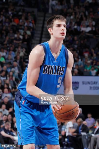 Nicolas Brussino of the Sacramento Kings dunks against the Dallas Mavericks on April 4 2017 at Golden 1 Center in Sacramento California NOTE TO USER...