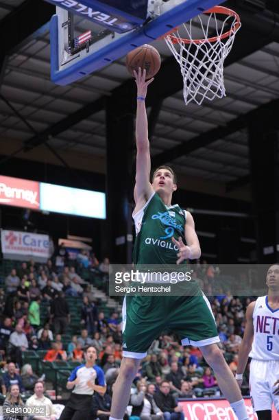 Nicolas Brussino of the Texas Legends for the basket during game against the Long Island Nets at The Dr Pepper Arena on March 4 2017 in Frisco Texas...