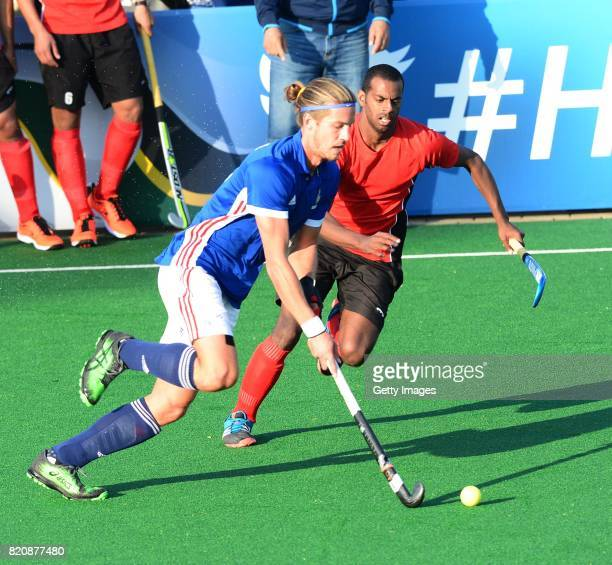 Nicolas Bumont of France during day 8 of the FIH Hockey World League Men's Semi Finals 7th8th place match between Egypt and France at Wits University...
