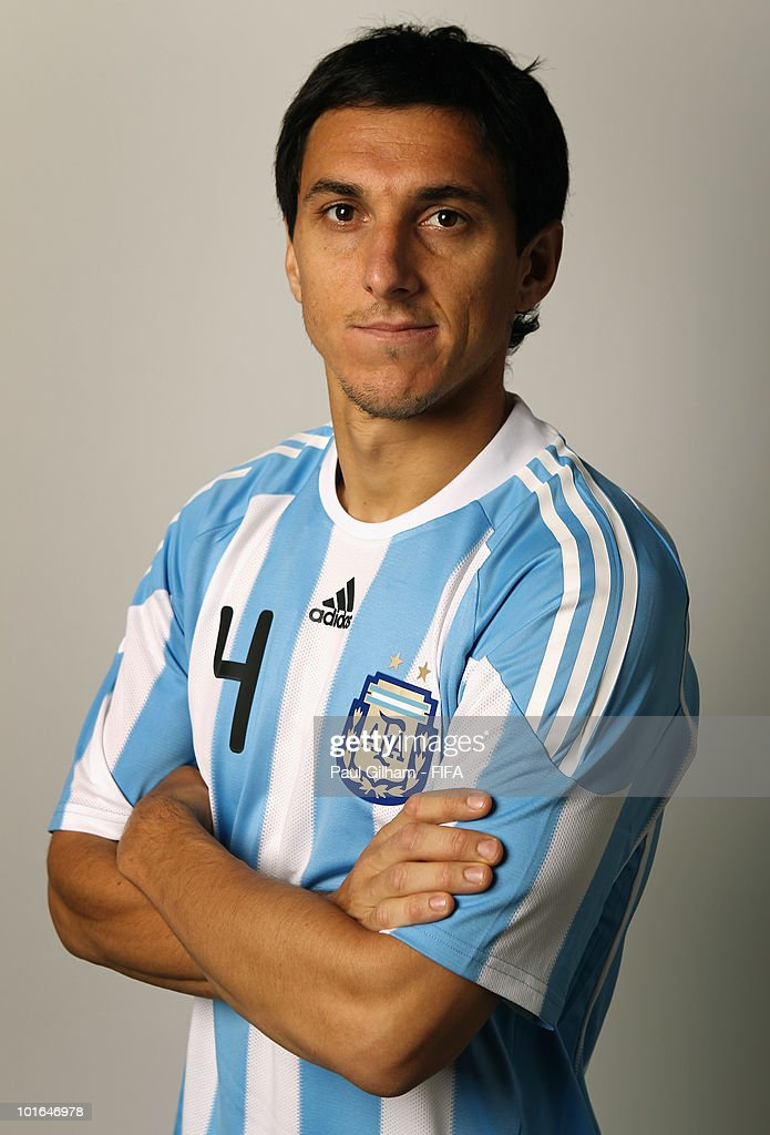 Nicolas Burdisso of Argentina poses during the official FIFA World Cup 2010 portrait session on June 5 2010 in Pretoria South Africa