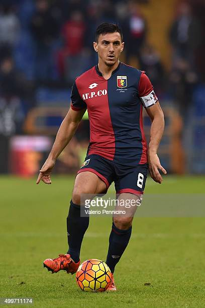 Nicolas Burdisso of Genoa CFC in action during the Serie A match between Genoa CFC and Carpi FC at Stadio Luigi Ferraris on November 29 2015 in Genoa...