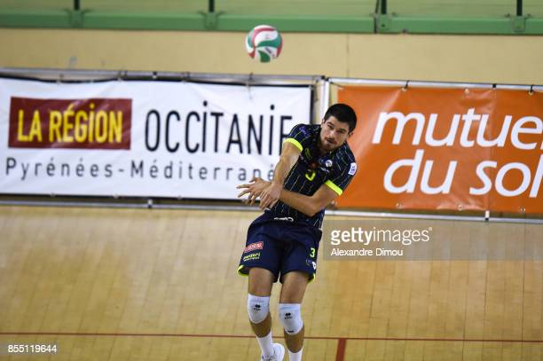 Nicolas Burel of Toulouse during the Volleyball friendly match on September 22 2017 in Montpellier France