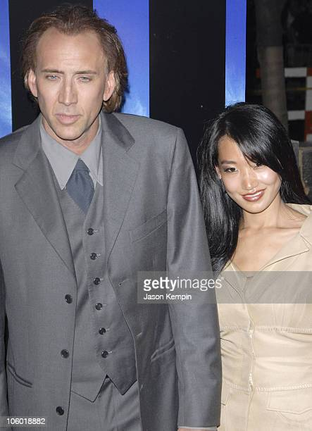 Nicolas Cage and Alice Kim during 'World Trade Center' New York Premiere Arrivals at The Ziegfeld Theatre in New York New York United States