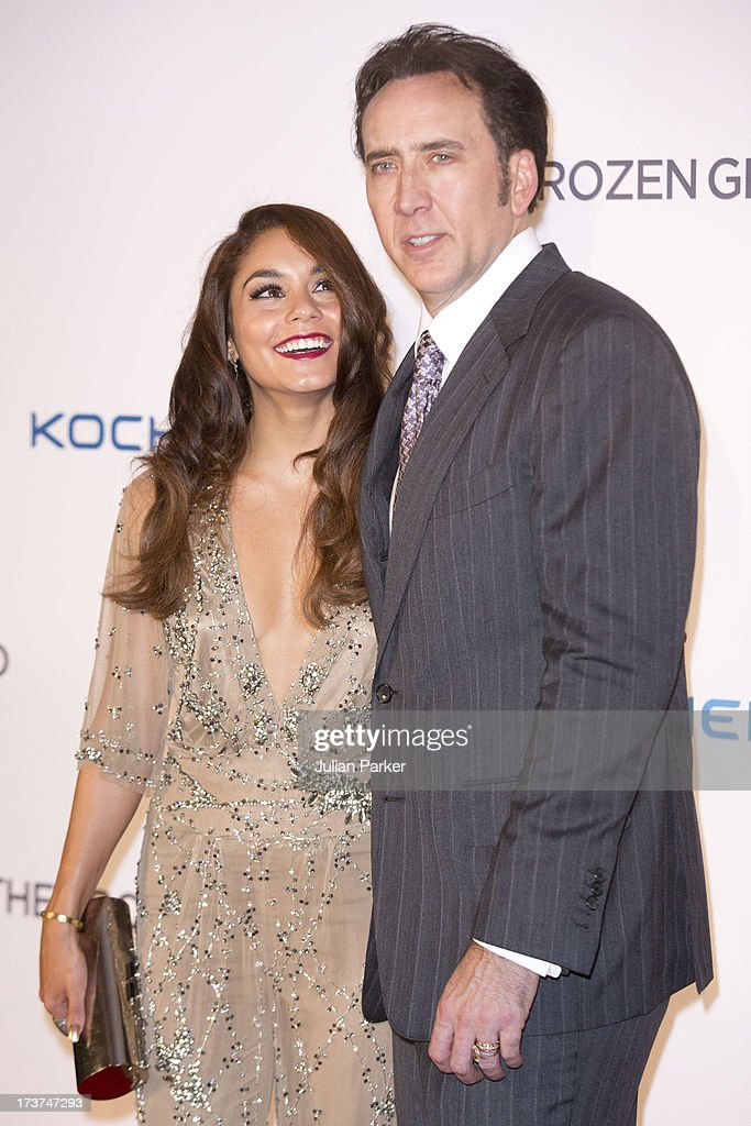 <a gi-track='captionPersonalityLinkClicked' href=/galleries/search?phrase=Nicolas+Cage&family=editorial&specificpeople=196531 ng-click='$event.stopPropagation()'>Nicolas Cage</a>, and co star Vanessa Hudgens attend the UK Premiere of 'The Frozen Ground' at Vue West End on July 17, 2013 in London, England.
