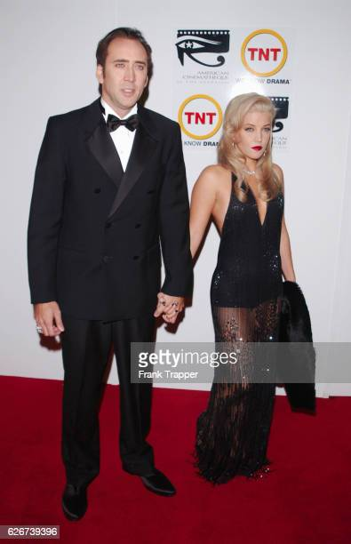 Nicolas Cage and Lisa Marie Presley at the 16th Annual American Cinematheque Award honoring Nicolas Cage The fundraiser is for the American...