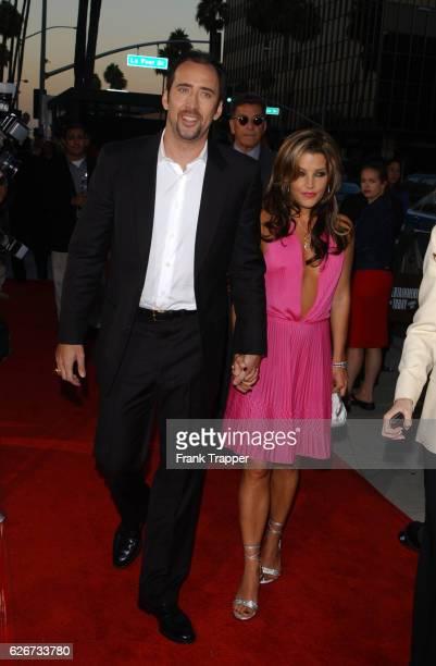 Nicolas Cage and Lisa Marie Presley at the premiere of 'Captain Corelli's Mandolin'