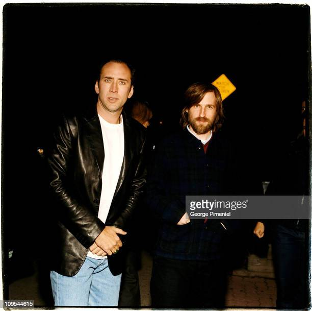 Nicolas Cage and Spike Jonze director during Adaptation Screening Toronto at innis College Townhall Theatre University of Toronto in Toronto Canada