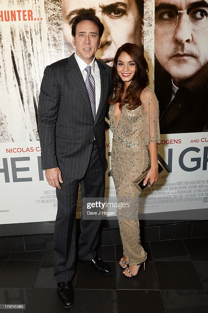 <a gi-track='captionPersonalityLinkClicked' href=/galleries/search?phrase=Nicolas+Cage&family=editorial&specificpeople=196531 ng-click='$event.stopPropagation()'>Nicolas Cage</a> and Vanessa Hudgens attend the UK premiere of 'The Frozen Ground' at The Vue Leicester Square on July 17, 2013 in London, England.