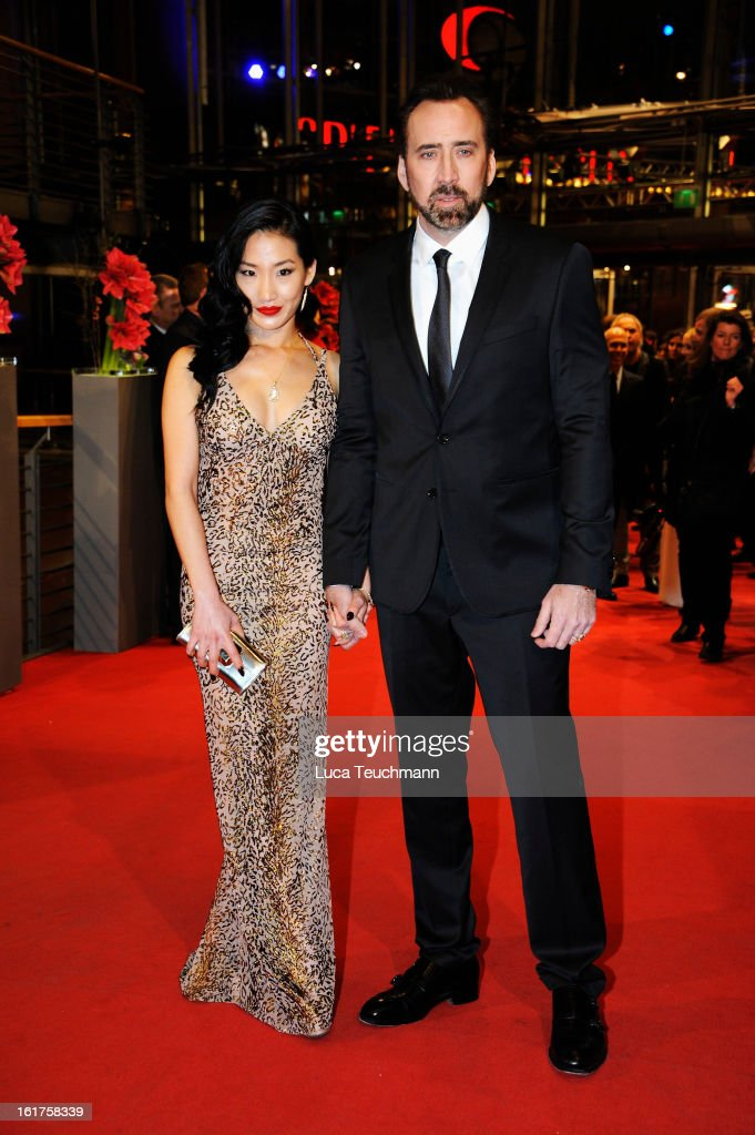 Nicolas Cage and wife Alice Kim attend the 'The Croods' Premiere during the 63rd Berlinale International Film Festival at Berlinale Palast on February 15, 2013 in Berlin, Germany.