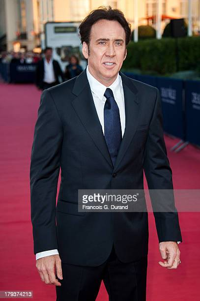 Nicolas Cage arrives at the premiere of the movie 'Joe' during the 39th Deauville American film festival on September 2 2013 in Deauville France