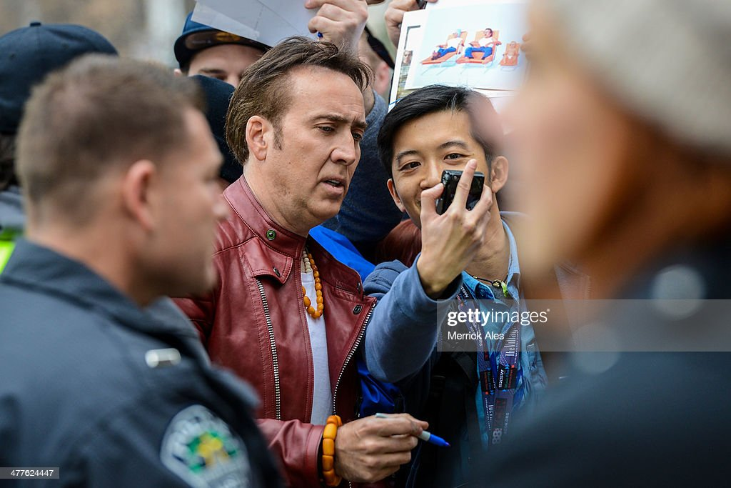 <a gi-track='captionPersonalityLinkClicked' href=/galleries/search?phrase=Nicolas+Cage&family=editorial&specificpeople=196531 ng-click='$event.stopPropagation()'>Nicolas Cage</a> arrives for the premiere of his new film 'Joe' during the South By Southwest Film Festival on March 9, 2014 in Austin, Texas.
