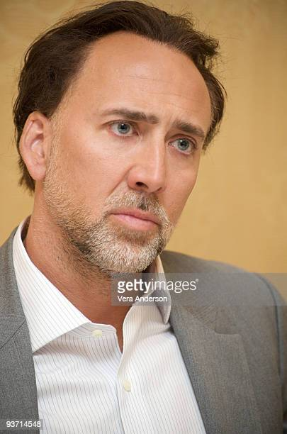 Nicolas Cage at the 'Knowing' press conference at the Ritz Carlton Hotel on March 7 2009 in New York City