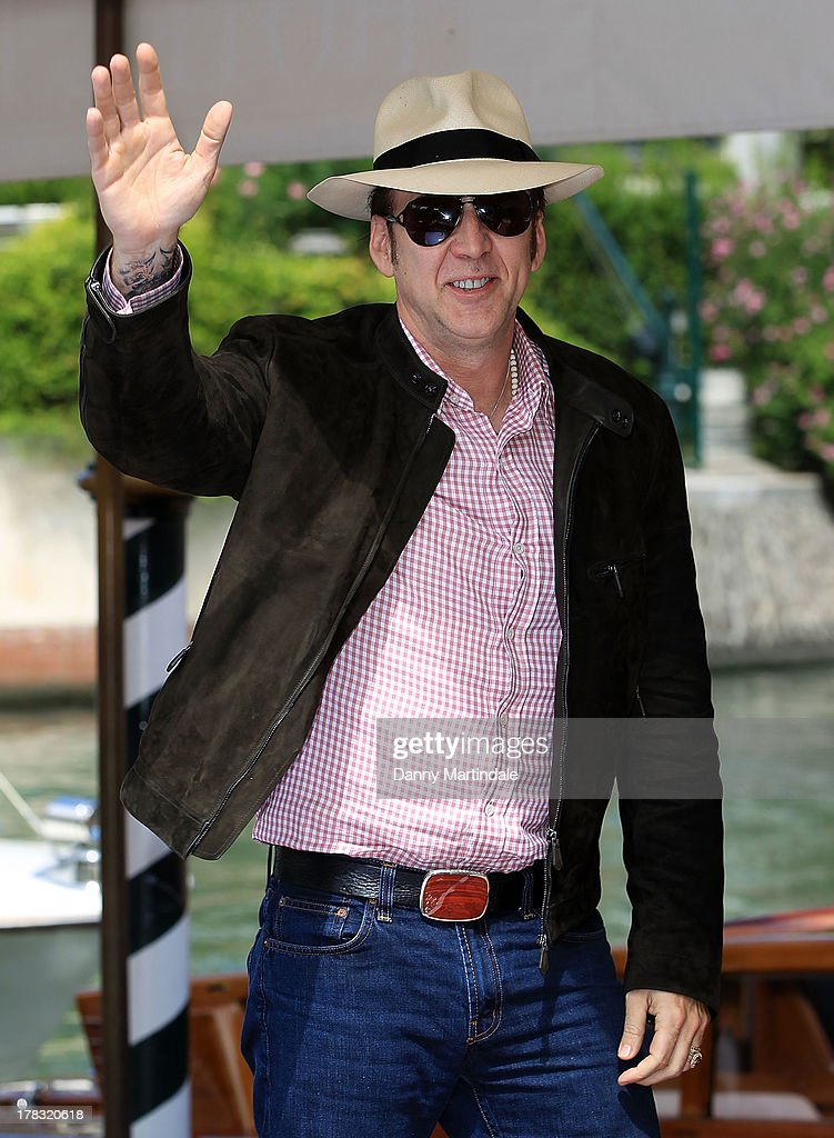 <a gi-track='captionPersonalityLinkClicked' href=/galleries/search?phrase=Nicolas+Cage&family=editorial&specificpeople=196531 ng-click='$event.stopPropagation()'>Nicolas Cage</a> attends day 2 of the 70th Venice International Film Festival on August 29, 2013 in Venice, Italy.