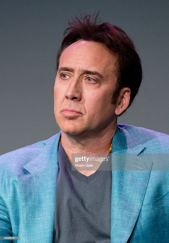 <a gi-track='captionPersonalityLinkClicked' href=/galleries/search?phrase=Nicolas+Cage&family=editorial&specificpeople=196531 ng-click='$event.stopPropagation()'>Nicolas Cage</a> attends 'Meet The Filmmakers' at Apple Store Soho on April 10, 2014 in New York City.