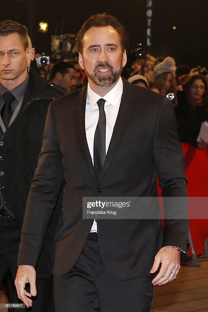 <a gi-track='captionPersonalityLinkClicked' href=/galleries/search?phrase=Nicolas+Cage&family=editorial&specificpeople=196531 ng-click='$event.stopPropagation()'>Nicolas Cage</a> attends 'The Croods' Premiere - BMW at the 63rd Berlinale International Film Festival at Berlinale Palast on February 15, 2013 in Berlin, Germany.