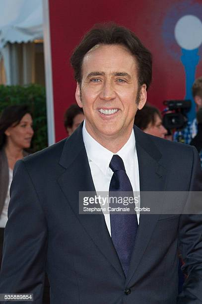 Nicolas Cage attends the premiere of the movie 'Joe' during the 39th Deauville American Film Festival in Deauville