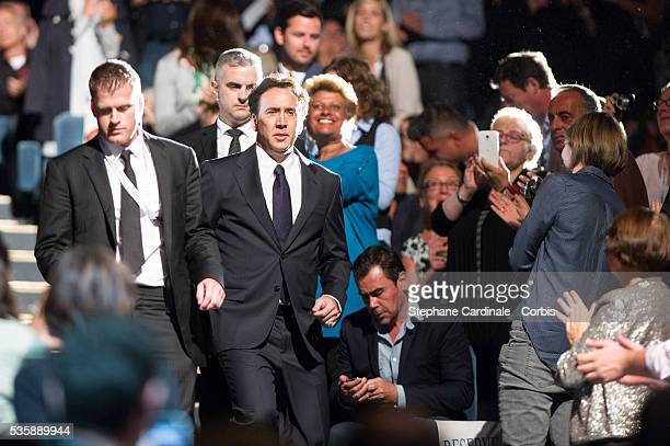 Nicolas Cage attends the screening of the movie 'Joe' during the 39th Deauville American Film Festival in Deauville