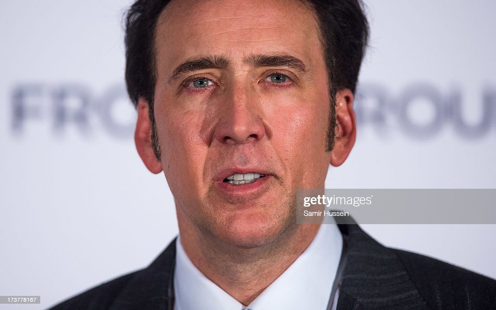 <a gi-track='captionPersonalityLinkClicked' href=/galleries/search?phrase=Nicolas+Cage&family=editorial&specificpeople=196531 ng-click='$event.stopPropagation()'>Nicolas Cage</a> attends the UK Premiere of 'The Frozen Ground' at the Vue West End Leicester Square on July 17, 2013 in London, England.