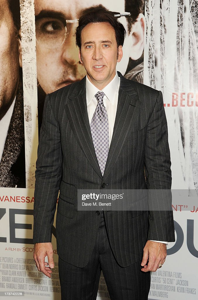 <a gi-track='captionPersonalityLinkClicked' href=/galleries/search?phrase=Nicolas+Cage&family=editorial&specificpeople=196531 ng-click='$event.stopPropagation()'>Nicolas Cage</a> attends the UK Premiere of 'The Frozen Ground' at Vue West End on July 17, 2013 in London, England.