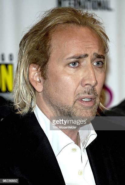 Nicolas Cage attends the Walt Disney Studios Wondercon 2010 Presentation at Moscone Center on April 3 2010 in San Francisco California