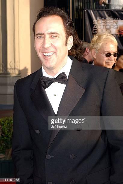 Nicolas Cage during 9th Annual Screen Actors Guild Awards Arrivals at The Shrine Auditorium in Los Angeles California United States