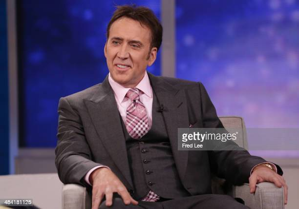 AMERICA Nicolas Cage is a guest on 'Good Morning America' 4/11/14 airing on the ABC Television Network NICOLAS