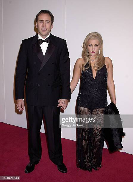 Nicolas Cage Lisa Marie Presley during The 16th Annual American Cinematheque Award Honoring Nicolas Cage at Beverly Hilton Hotel in Beverly Hills...