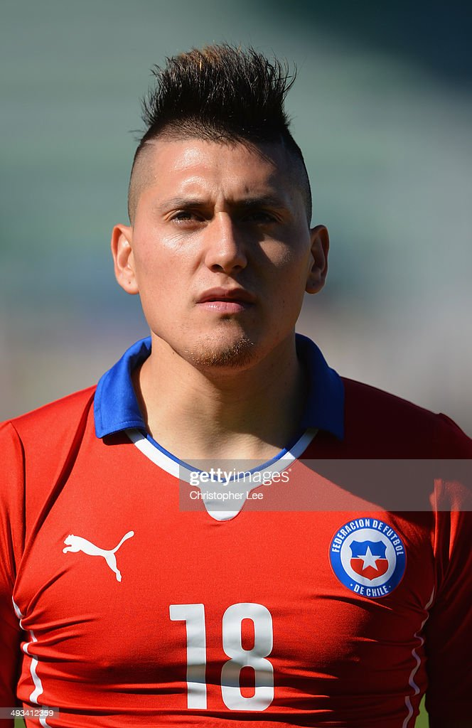 Nicolas Castillo of Chile during the Toulon Tournament Group A match between Portugal and Chile at the Stade Perruc on May 23, 2014 in Hyeres, France.