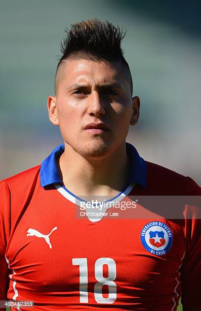 Nicolas Castillo of Chile during the Toulon Tournament Group A match between Portugal and Chile at the Stade Perruc on May 23 2014 in Hyeres France