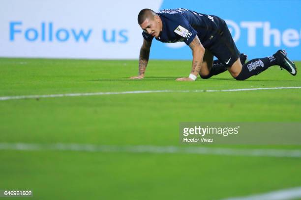 Nicolas Castillo of Pumas during the quarterfinals second leg match between Pumas UNAM and Tigres UANL as part of the CONCACAF Champions League 2017...