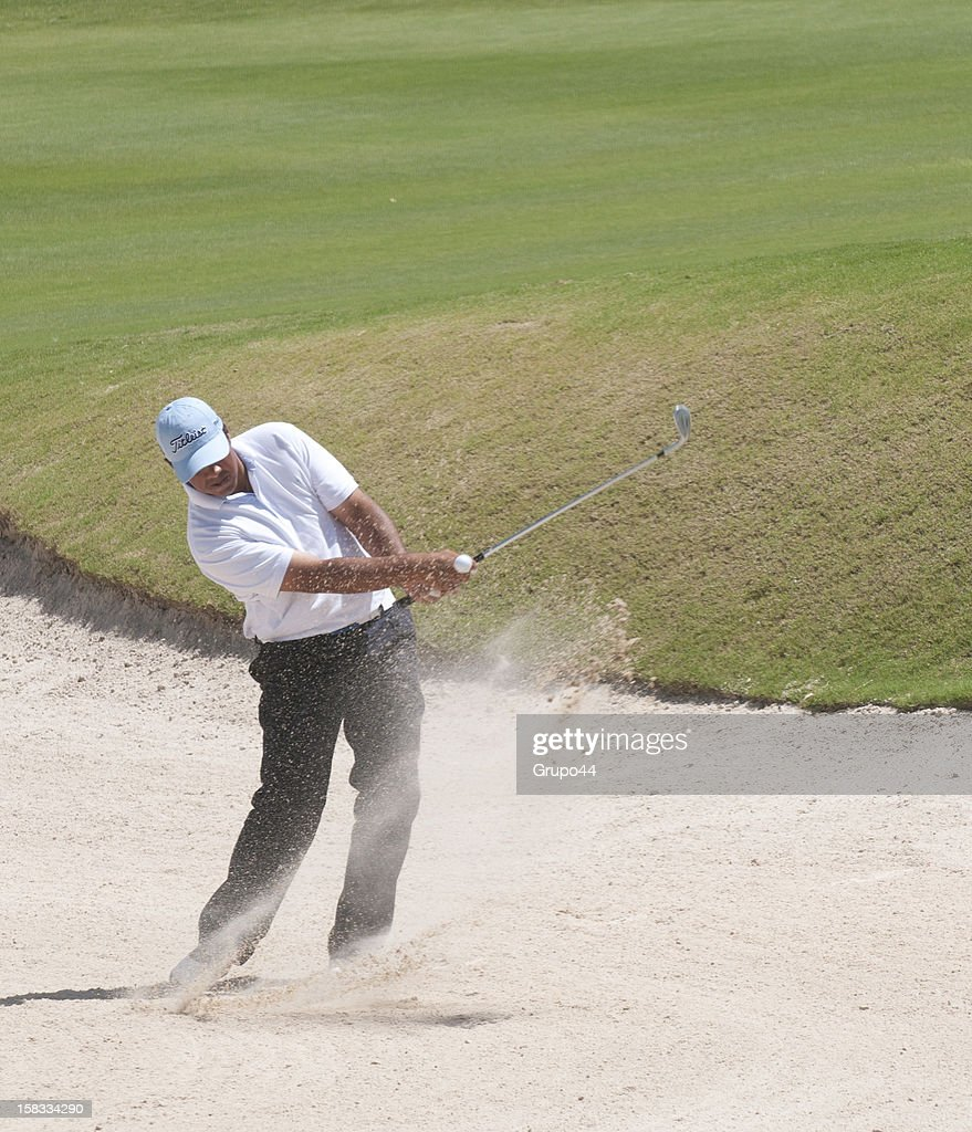 Nicolas Ciccola plays out of the bunker during the opening day of the 107 Visa Golf Open presented by Peugeot as part of the PGA Latin America at Nordelta Golf Club on December 13, 2012 in Buenos Aires, Argentina.