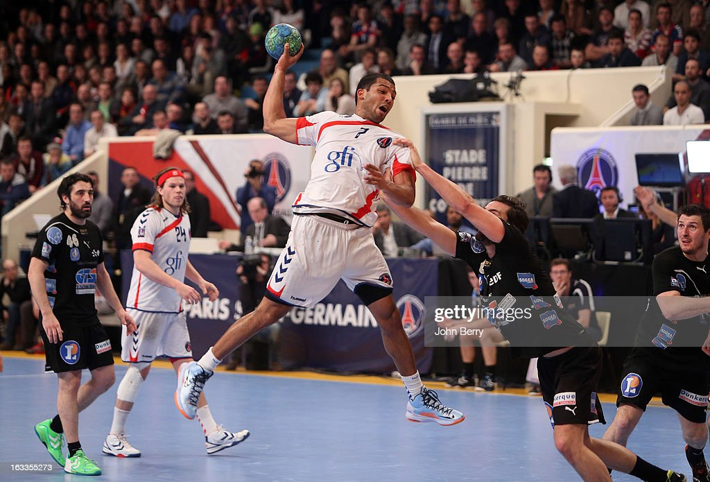 Nicolas Claire of PSG Handball in action during the handball's Division 1 match between Paris Saint-Germain Handball and Dunkerque at the Stade Pierre de Coubertin on March 7, 2013 in Paris, France.